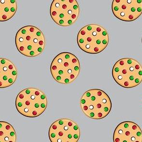 just cookies - christmas cookies on grey