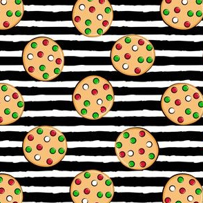 just cookies - Christmas on black stripes - black stripes
