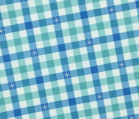 Stitched Gingham* (Sailor & Polymer) || check star starburst stitching needlework checkerboard spring summer 70s retro vintage pastel mint