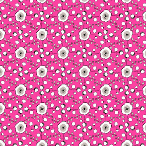 Plum Blossom Square in Raspberry