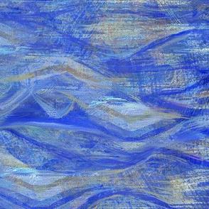 Seventies waves-cobalt-blue
