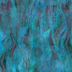 Seventies waves-cyan-blue