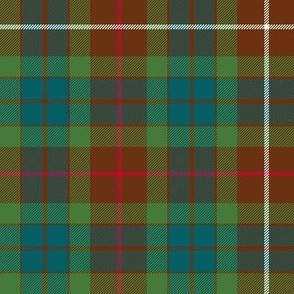 "Fraser hunting tartan, 8"" muted"