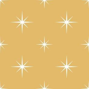 White Stars on Gold