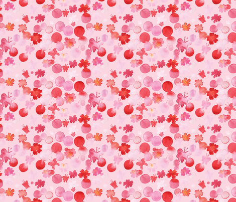 Pink red butterfly on pink fabric by rachael_king on Spoonflower - custom fabric