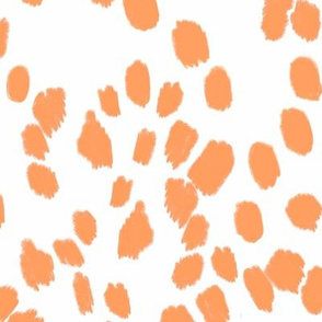 Abstract Dalmatian spots - orange