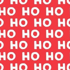HO HO HO - Santa  - red
