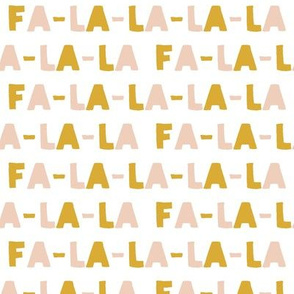 FA-LA-LA-LA-LA - blush & gold - holiday fabric