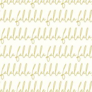 falalala script - gold & cream - Christmas