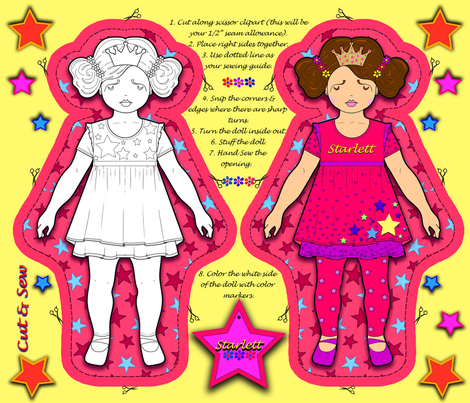 TWO SIDE DOLL fabric by rivlo on Spoonflower - custom fabric