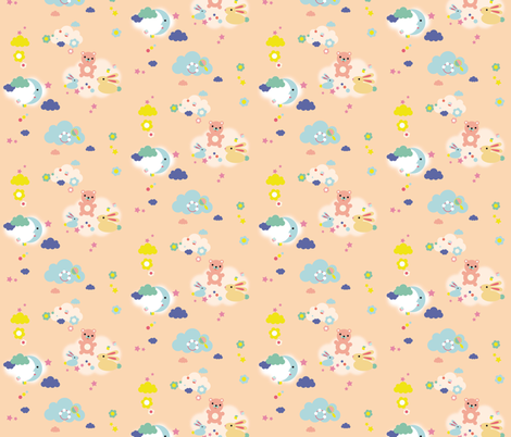 friendly toy sky  fabric by miraparadies on Spoonflower - custom fabric