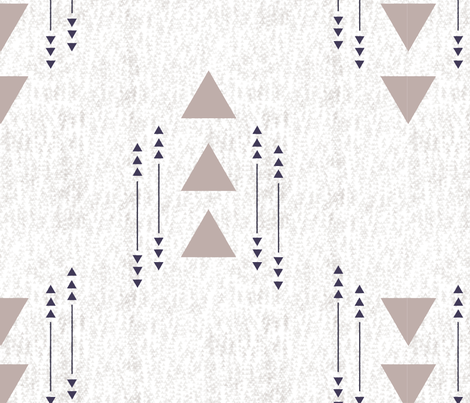 Calming Neutral Arrows fabric by sarahbrubeck on Spoonflower - custom fabric