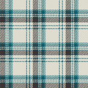 Plaid Ivory Teal Brown