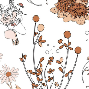 Dried flowers white
