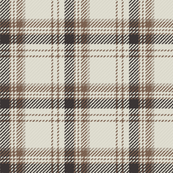 Plaid Ivory Beige Brown