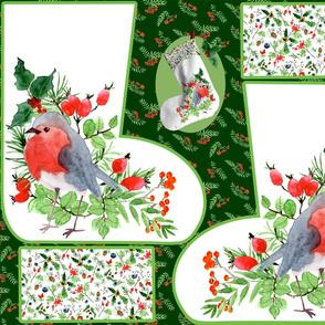 christmas stocking robin 1