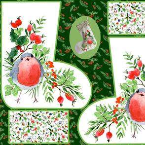 christmas stocking robin 2