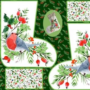 christmas stocking robin 3