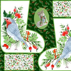christmas stocking robin 4