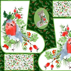 christmas stocking robin 5