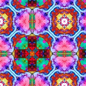"""6"""" HAPPY TILES BOHO 6 PINK ORANGE MINT PURPLE BLUE CROSS GYPSY checkerboard"""