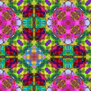 "6"" HAPPY TILES BOHO 8 PINK ORANGE LIME RED PURPLE BLUE GYPSY checkerboard"