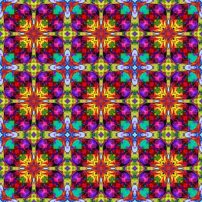 "6"" HAPPY TILES BOHO 10 FUCHSIA BURGUNDY ORANGE MINT PURPLE YELLOW GEOMETRIC SYMBOL GYPSY checkerboard"
