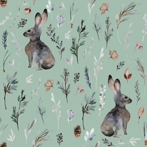 """8"""" Woodland Bunnies // Summer Green"""