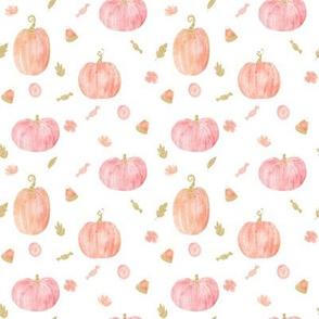 "4"" Sparkle Pumpkins // White"
