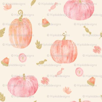 "4"" Sparkle Pumpkins // Cream"