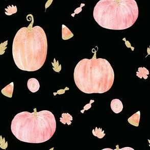 """8"""" Sparkle Pumpkins // Black"""