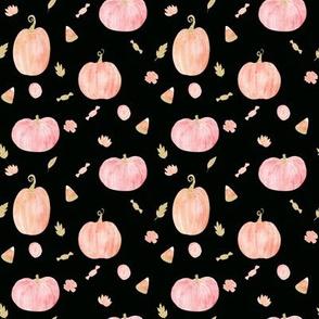 """4"""" Sparkle Pumpkins // Black"""