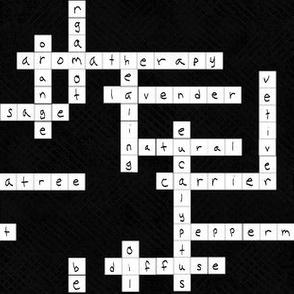 Aromatherapy Crossword | Black + White