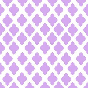 Moroccan Ogee Damask // Lavender