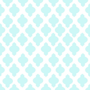 Moroccan Ogee Damask // Mint