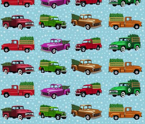O Christmas truck- light 21 inch fabric by leroyj on Spoonflower - custom fabric