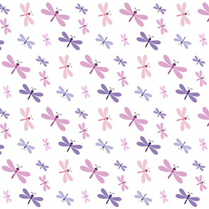 Dragonfly purple lavender - SMALL