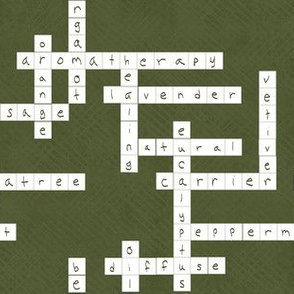 Aromatherapy Crossword in Deep Green