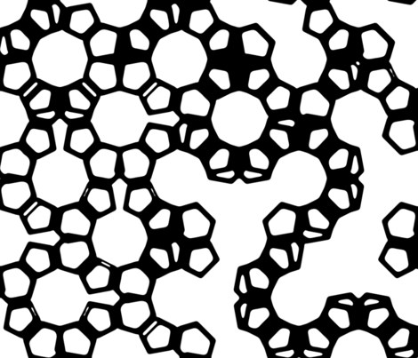 Mashrabiya - black & white fabric by ormolu on Spoonflower - custom fabric