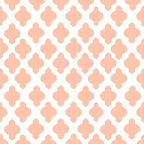 Moroccan Ogee Damask // Peachy
