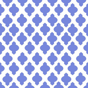 Moroccan Ogee Damask // Periwinkle