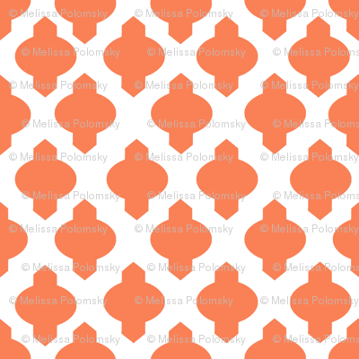Moroccan Ogee Damask // Persimmon
