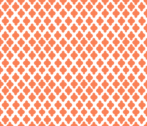 Moroccan Ogee Damask // Persimmon fabric by theartwerks on Spoonflower - custom fabric