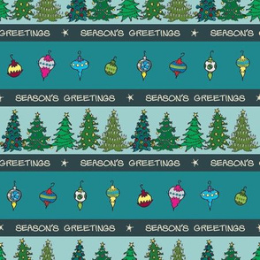 Season's Greetings Christmas Trees