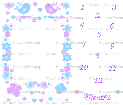 Baby Girl Month Milestone Age Growth Floral Blanket