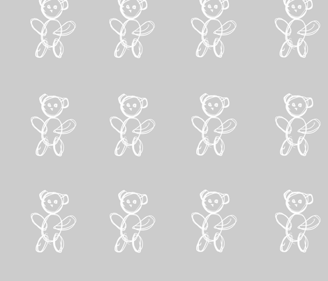 Teddy Bear  fabric by pixelpopo on Spoonflower - custom fabric