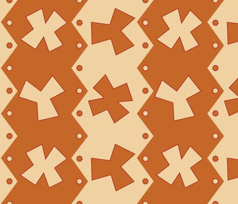 X & Ys Cider Peach fabric by kimberly_guccione on Spoonflower - custom fabric