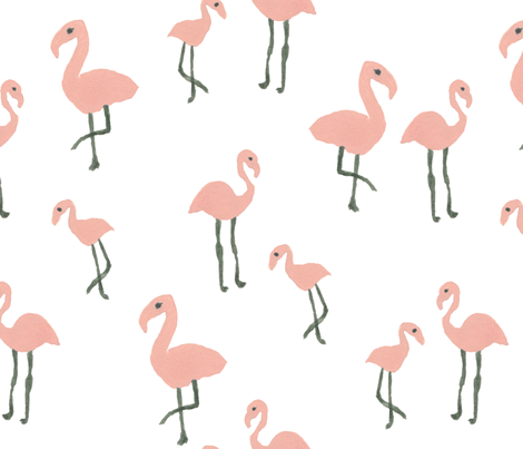 Flamingo Fun fabric by inezjestine on Spoonflower - custom fabric