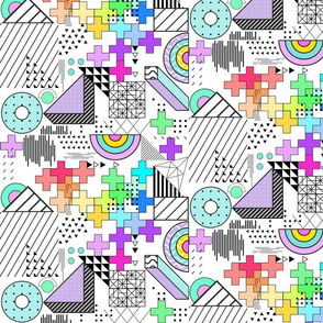 Geometric Chaos Rainbow Doodles