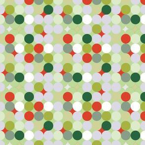 Circles abstract Christmas pattern